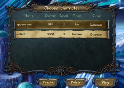 Selecting Character