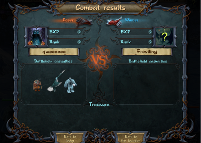 Combat results