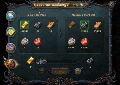 Resources changing